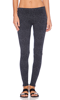 Splendid Python Legging in Gunmetal