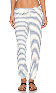 Splendid West Shore Stripe Sweatpant in Stonewash