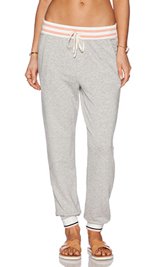 Splendid Isleton Active Sweatpant in Heather Grey