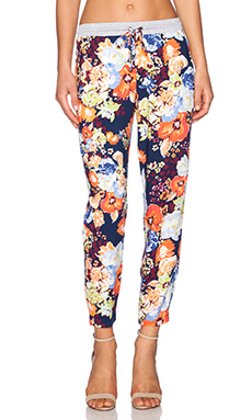 Splendid Spring Blooms Pant in Navy Multi