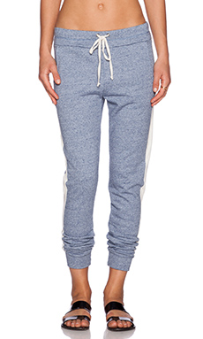 Splendid Colorblock Active Sweatpant in Heather Navy