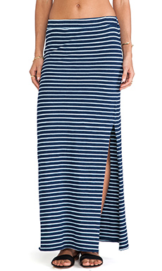 Splendid Indigo Dye Maxi Skirt in Dark Venice