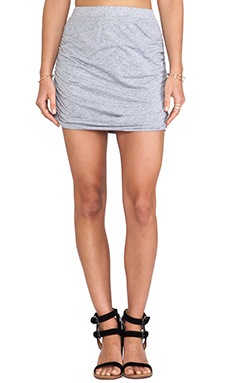 Splendid Mini Skirt in Heather Grey