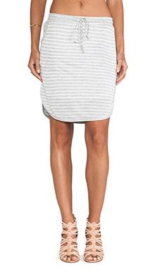 Splendid Montrose Stripe Active Skirt in Heather Grey