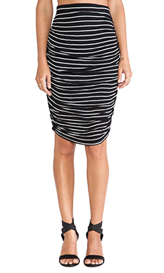 Splendid New Haven Stripe Skirt in Black