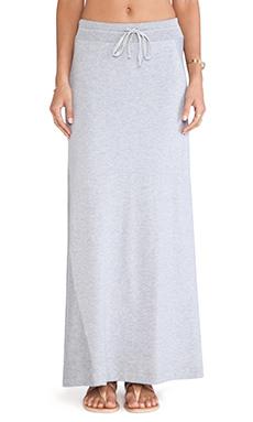 Splendid Slub French Terry Maxi Skirt in Heather Grey