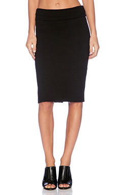 Splendid Slub French Terry Skirt in Black