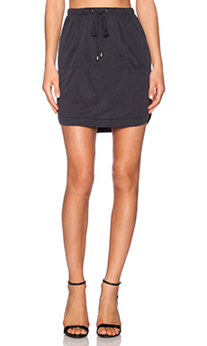 Splendid Sandwash Jersey Skirt in Black