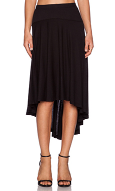 Splendid Hi Lo Maxi Skirt in Black