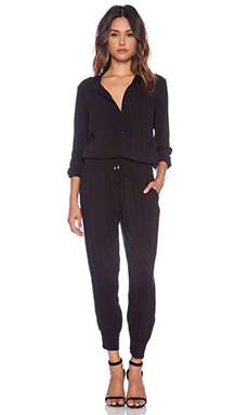 Splendid Chelsea Voile Jumpsuit in Black