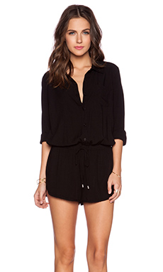 Splendid Rayon Voile Romper in Black
