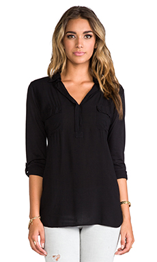 Splendid Shirting Top in Black