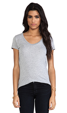Splendid Light Jersey Short Sleeve Tee in Heather Grey