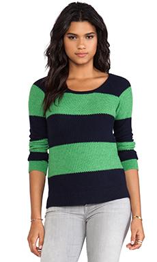 Splendid Honeycomb Sweater in Navy
