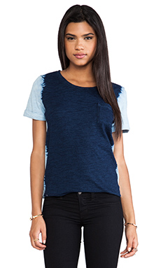 Splendid Indigo Pocket Tee in Dark