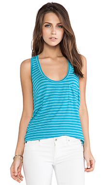 Splendid Lagoon Stripe Tank in Capri