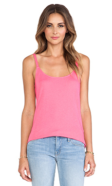 Splendid Very Light Jersey Tank in Flamingo