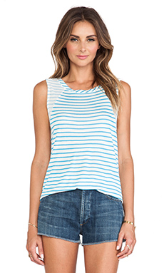 Splendid Montrose Stripe Tank in Pacific Blue