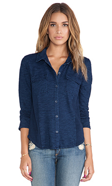 Splendid Indigo Button Down in Dark Wash