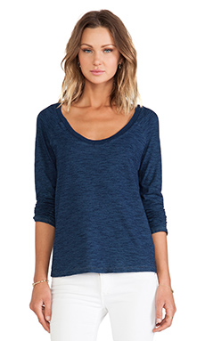 Splendid Indigo L/S Pullover in Dark Wash