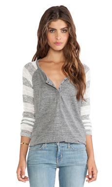 RUGBY POINTELLE LOOSE KNIT HENLEY