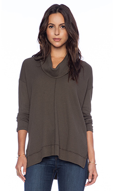 Splendid Thermal Cowlneck Top in Olive
