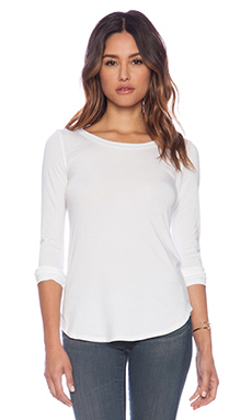 Splendid Tencel Jersey Top in White