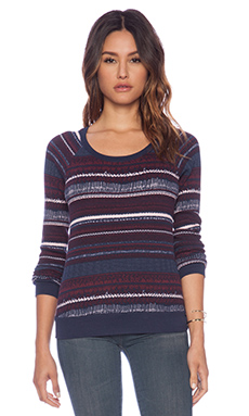 Splendid Bowery Street Thermal Top in Aubergine