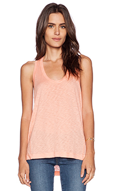 Splendid Slub Tees Tank in Peach