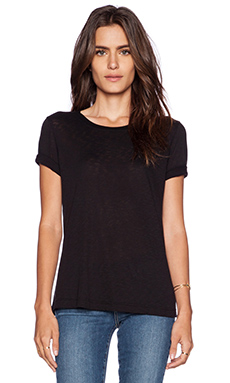 Splendid Slub Tee in Black