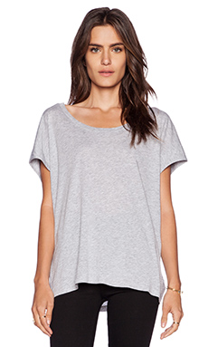 Splendid Very Light Jersey Tee in Heather Grey