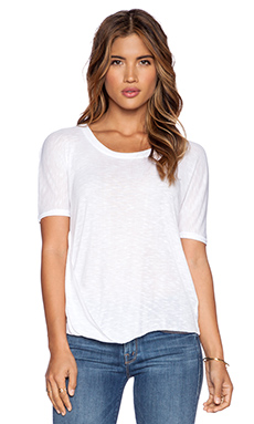 Splendid Drapey Slub Jersey Top in White