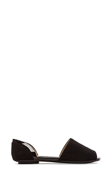 Splendid Akron Open Toe Flats in Black