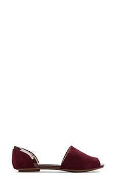 Splendid Akron Open Toe Flats in Dark Cranberry