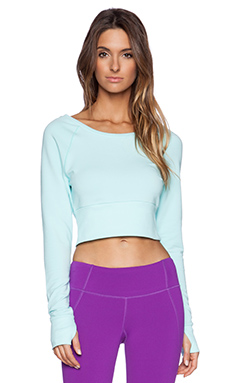 Splits59 Berkley Crop Sweatshirt in Laguna