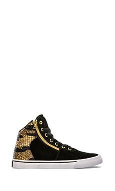 Supra Cuttler High Top Sneaker in Black & Gold