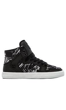 Supra Vaider Sneaker in Black & White Textile