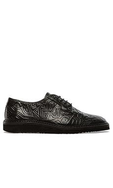 Swear Lou 4 Oxford in Black Pattern & Black Sole