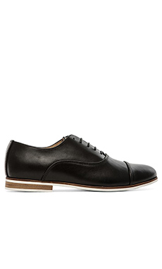 Swear Marlon 1 Oxford in Black Leather & Natural Sole