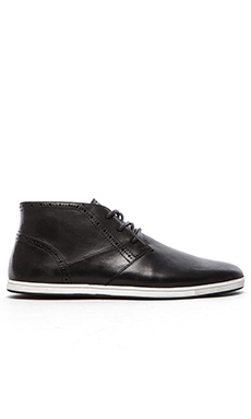 Swear Frank 4 Sneaker in Black Leather