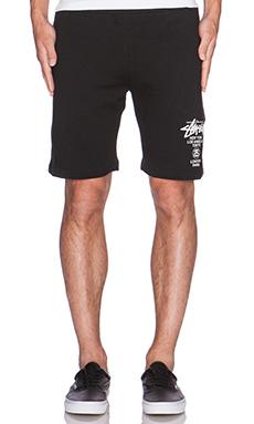 Stussy WT Sweatshort in Black