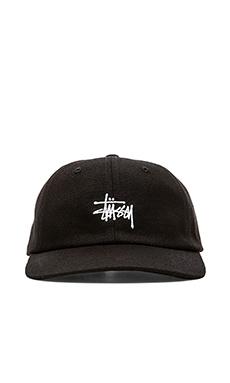 Stussy Classic Logo Cap in Black