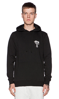 Stussy World Tour Hoody in Black