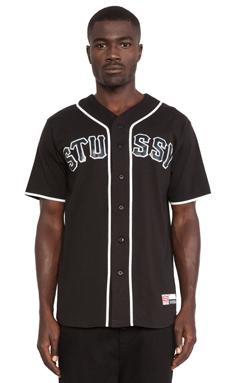 Stussy Baseball Jersey in Black