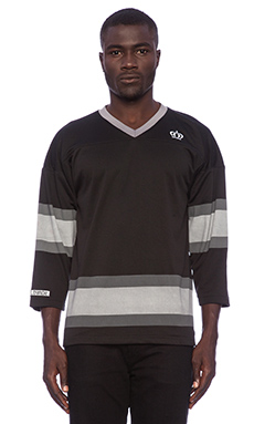 Stussy Mesh Hockey Crew in Black