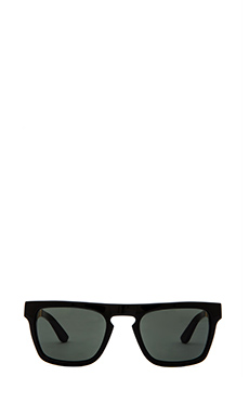 Stussy Louie Sunglasses in Black Gold/Black