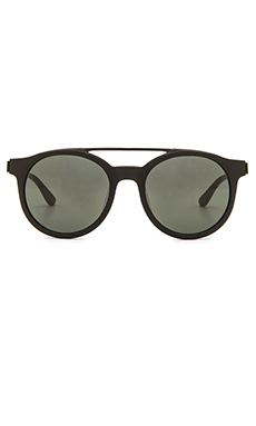 Stussy Luca Sunglasses in Matte Black & Black