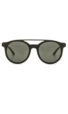 Stussy Luca Sunglasses in Matte Black & Black