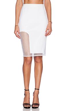 Style Stalker Getaway Pencil Skirt in White