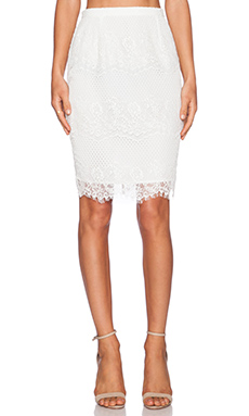Style Stalker Elliot Pencil Skirt in White